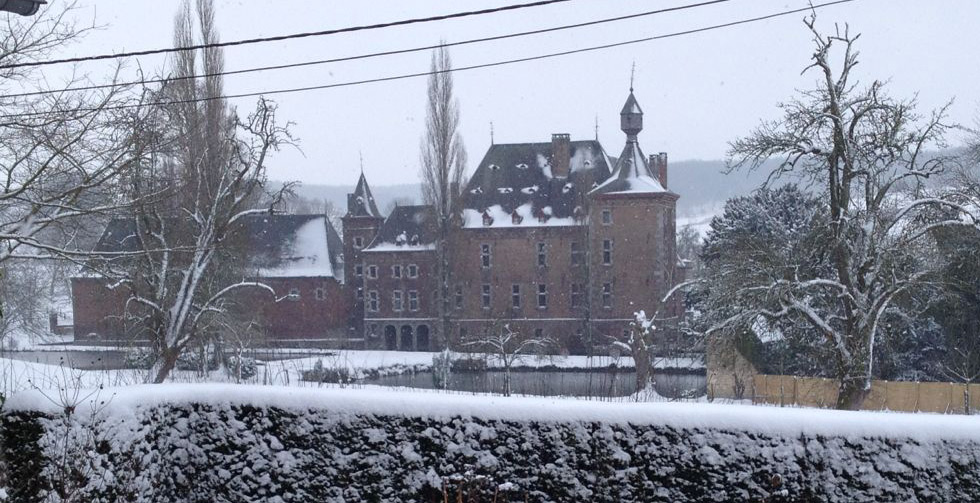 Kasteel de Commanderie in wintertooi